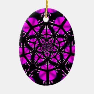 Modelo púrpura y negro del Hippie Ornamente De Reyes