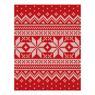 Modelo que hace punto del suéter del navidad - flyer