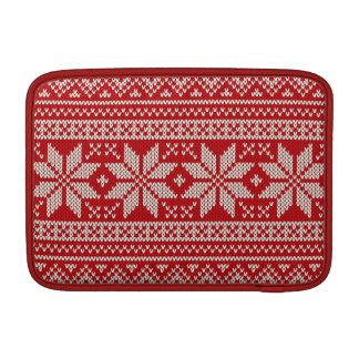 Modelo que hace punto del suéter del navidad - funda para MacBook
