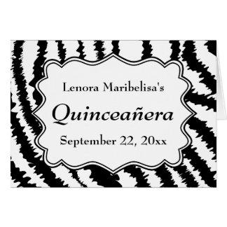 Modelo Quinceanera del estampado de zebra Tarjetas
