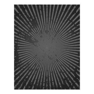 Modelo radial del Grunge: Plantilla de encargo Folleto 21,6 X 28 Cm