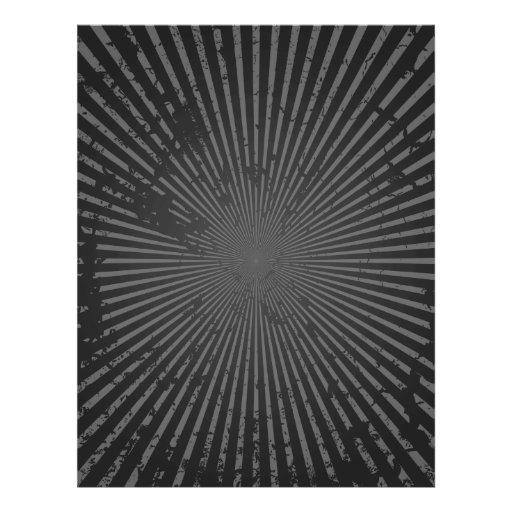Modelo radial del Grunge: Plantilla de encargo Tarjetón