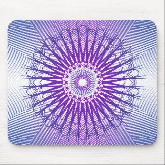 Modelo radial púrpura: Dibujo del vector: Mousepad