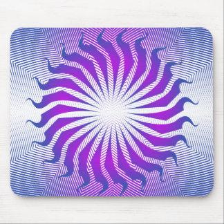 Modelo radial púrpura: Dibujo del vector: Mousepad Alfombrillas De Ratones