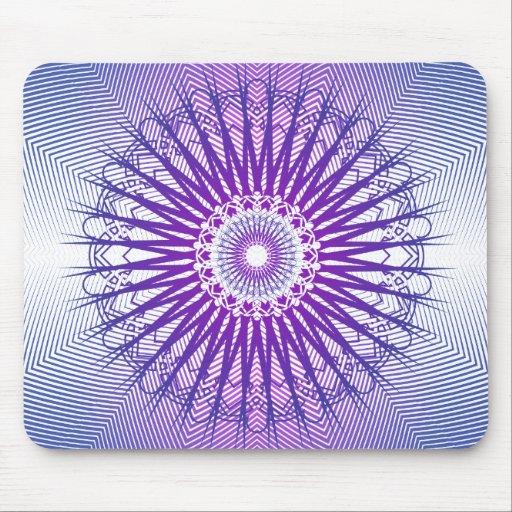 Modelo radial púrpura: Dibujo del vector: Mousepad Tapete De Raton