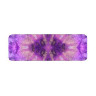 Modelo radial violeta púrpura del punto de los etiqueta de remite