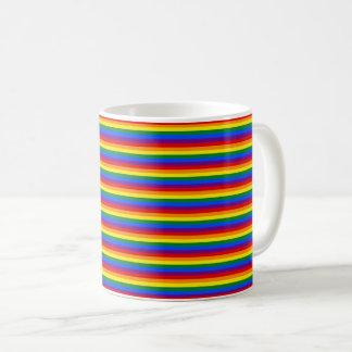 Modelo rayado colorido de la bandera LGBT del arco