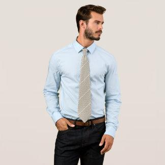 Modelo rayado de color caqui y blanco de Chevron Corbatas Personalizadas