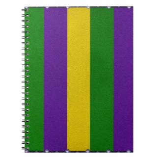 Modelo rayado del carnaval cuaderno
