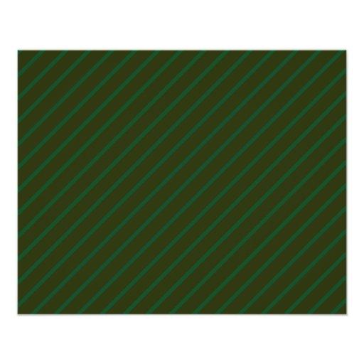 Modelo rayado diagonal verde oscuro flyer a todo color
