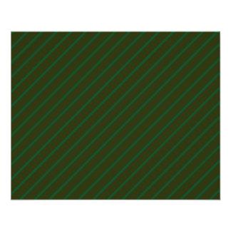 Modelo rayado diagonal verde oscuro folleto 11,4 x 14,2 cm