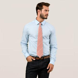 Modelo rayado rojo y blanco de la amapola de corbatas