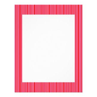 Modelo rayado rosado flyer a todo color