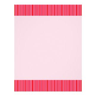 Modelo rayado rosado tarjetas informativas