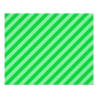 Modelo rayado verde tarjetas informativas