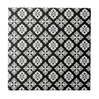 Azulejos modelo blanco negro for Azulejo a cuadros blanco y negro barato