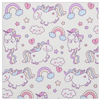 Modelo rechoncho del arco iris de los unicornios tela