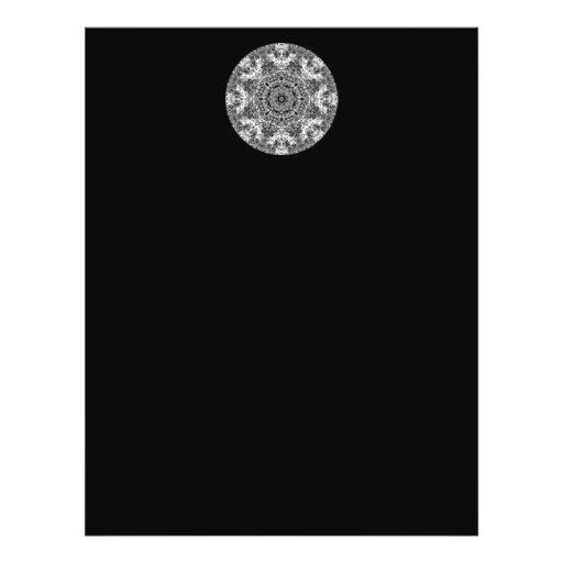Modelo redondo decorativo blanco y negro tarjetones