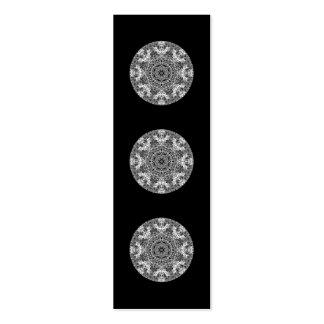 Modelo redondo decorativo blanco y negro tarjetas de visita mini