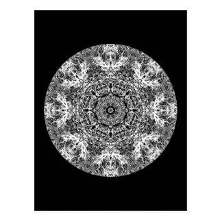 Modelo redondo decorativo blanco y negro tarjetas postales