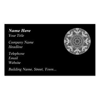 Modelo redondo decorativo blanco y negro tarjeta personal