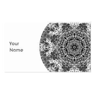 Modelo redondo decorativo blanco y negro plantilla de tarjeta de negocio