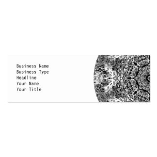 Modelo redondo decorativo blanco y negro plantillas de tarjetas de visita