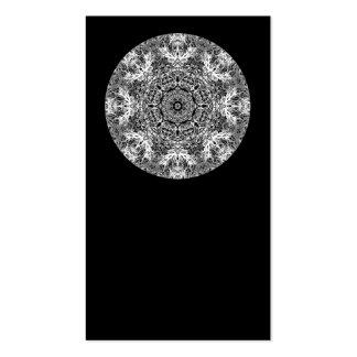 Modelo redondo decorativo blanco y negro tarjeta de visita