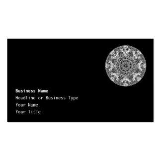 Modelo redondo decorativo blanco y negro tarjetas de visita