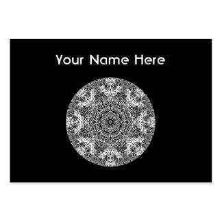 Modelo redondo decorativo blanco y negro tarjetas de visita grandes