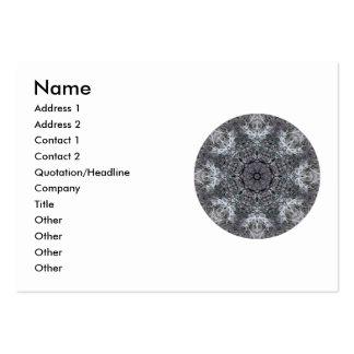 Modelo redondo decorativo elegante. Personalizado Tarjetas Personales