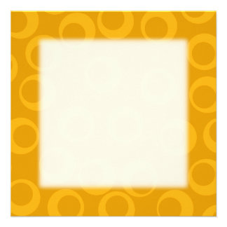 Modelo retro anaranjado invitación personalizada