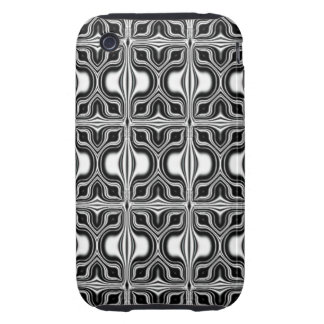 modelo retro blanco negro iPhone 3 tough protectores