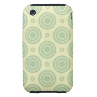 Modelo retro de la verde menta iPhone 3 tough carcasas