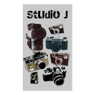 Modelo retro de las cámaras del Grunge del vintage Tarjetas De Visita
