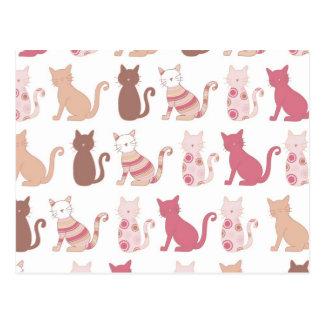 Modelo retro de los amantes del gato postal