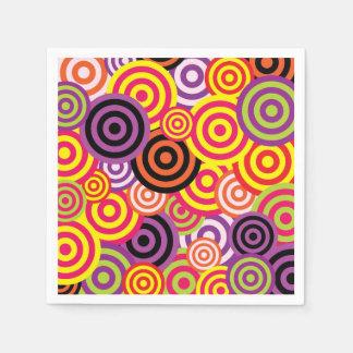 Modelo retro de los años 60 de los círculos servilleta de papel