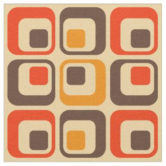 Modelo retro de los cuadrados - rojo, Brown y Telas
