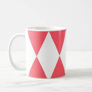 Modelo retro de los triángulos del melocotón taza de café