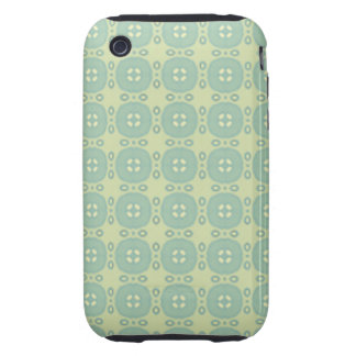 Modelo retro de Sun de la verde menta Tough iPhone 3 Fundas