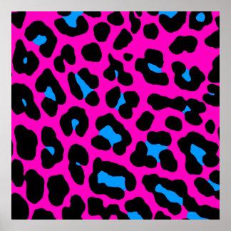 Modelo retro del leopardo del tigre 80s de Corey Posters