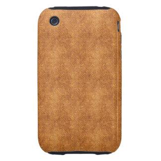 Modelo retro del naranja del Grunge iPhone 3 Tough Funda