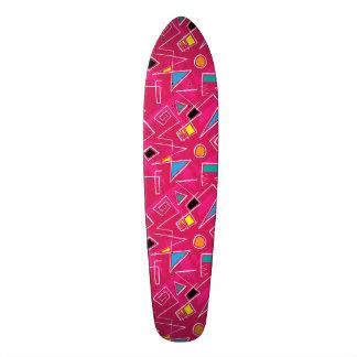 Modelo retro enrrollado rosado de los años 80 de monopatín 18,7 cm