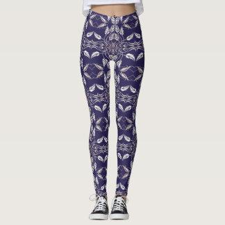 Modelo retro floral leggings