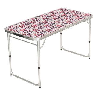 Modelo retro fresco del vector de los casetes del mesa de pong