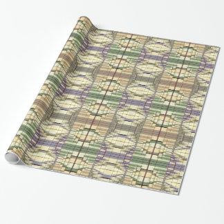 Modelo retro geométrico gris poner crema verde en papel de regalo