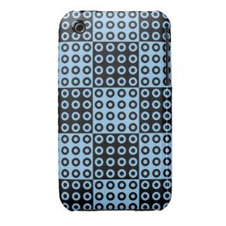 Modelo retro negro y azul del inspector iPhone 3 Case-Mate coberturas