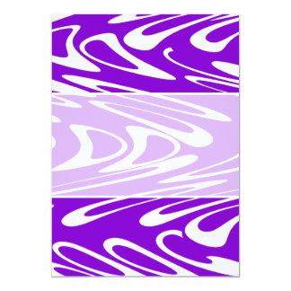 Modelo retro púrpura y blanco invitación