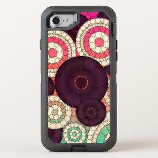 Modelo retro rosado amarillo verde funda OtterBox defender para iPhone 8/7