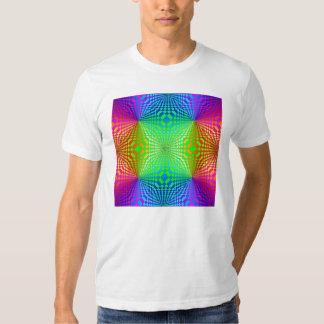 Modelo retro tridimensional maravilloso camisetas